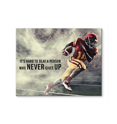 GearLaunch Canvas Prints Football Custom Canvas prints Never give up