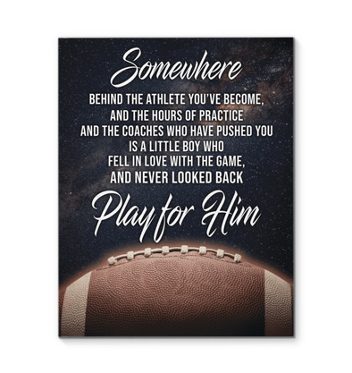 GearLaunch Canvas Prints Football Custom Canvas prints Play for him