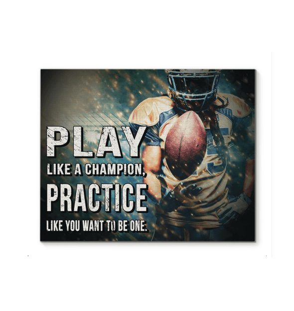 GearLaunch Canvas Prints Football Custom Canvas prints Play like a champion