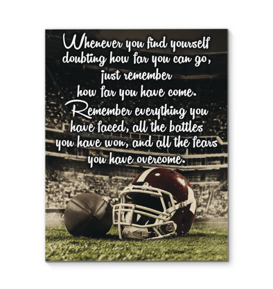 GearLaunch Canvas Prints Football Custom Canvas prints Remember
