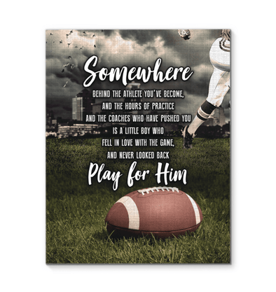 GearLaunch Canvas Prints Football Custom Canvas prints Somewhere