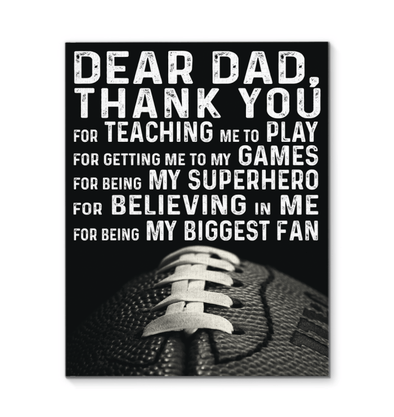 GearLaunch Canvas Prints Football Custom Canvas prints Thanks for believing me