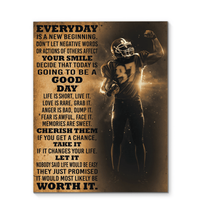 GearLaunch Canvas Prints Football Custom Canvas prints Today is a good day