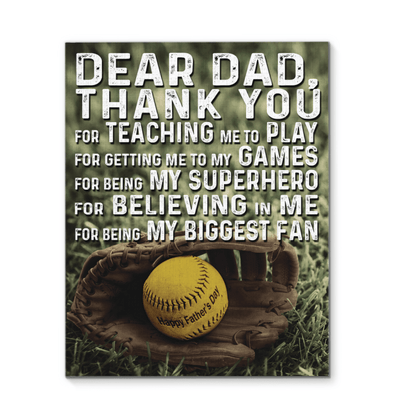 GearLaunch Canvas Prints Softball Custom Canvas prints Thank you for  being my biggest fan