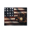 GearLaunch Canvas Prints Wrapped Canvas 11x14 Horizontal / White Baseball Custom Canvas prints Flag
