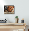 GearLaunch Canvas Prints Wrapped Canvas 11x14 Horizontal / White Basketball Custom Canvas prints LOVE