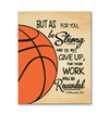 GearLaunch Canvas Prints Wrapped Canvas 11x14 / White Basketball Custom Canvas prints Do not give up
