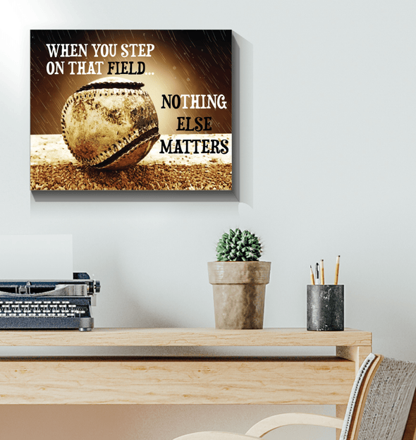 GearLaunch Canvas Prints Wrapped Canvas 16x20 Horizontal / White Baseball Custom Canvas prints Nothing else matters