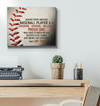 GearLaunch Canvas Prints Wrapped Canvas 16x20 Horizontal / White Baseball Custom Canvas prints Proud Dad