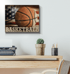 GearLaunch Canvas Prints Wrapped Canvas 16x20 Horizontal / White Basketball Custom Canvas prints LOVE