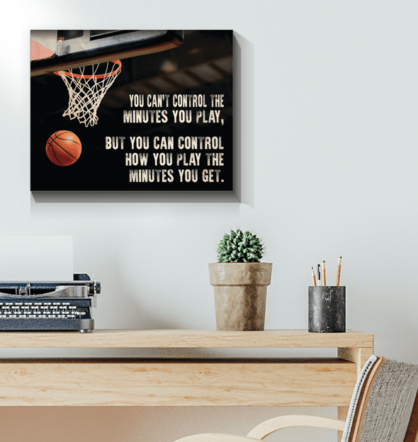 GearLaunch Canvas Prints Wrapped Canvas 16x20 Horizontal / White Basketball Custom Canvas prints You can control how you play the minutes you get