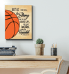 GearLaunch Canvas Prints Wrapped Canvas 16x20 / White Basketball Custom Canvas prints Do not give up