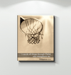 GearLaunch Canvas Prints Wrapped Canvas 16x20 / White Basketball Custom Canvas prints I can do all things