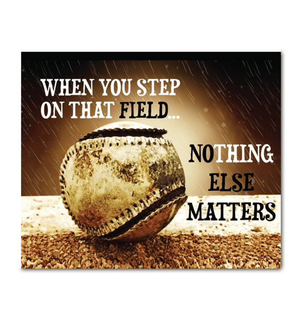 GearLaunch Canvas Prints Wrapped Canvas 20x24 Horizontal / White Baseball Custom Canvas prints Nothing else matters