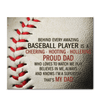 GearLaunch Canvas Prints Wrapped Canvas 20x24 Horizontal / White Baseball Custom Canvas prints Proud Dad
