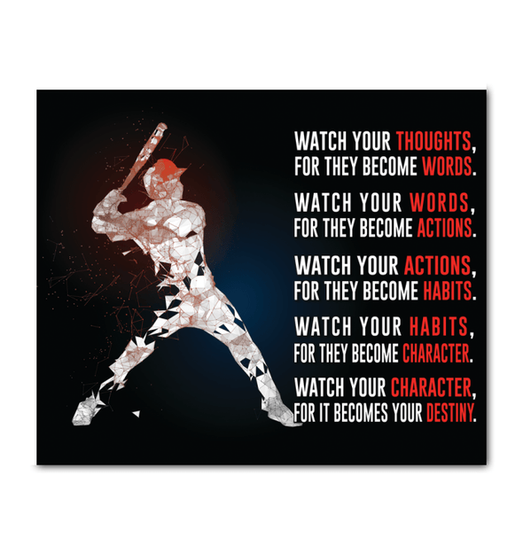 GearLaunch Canvas Prints Wrapped Canvas 20x24 Horizontal / White Baseball Custom Canvas prints WATCH