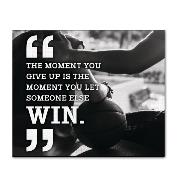 GearLaunch Canvas Prints Wrapped Canvas 20x24 Horizontal / White Basketball Custom Canvas prints Do not give up