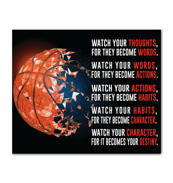 GearLaunch Canvas Prints Wrapped Canvas 20x24 Horizontal / White Basketball Custom Canvas prints WATCH