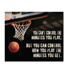 GearLaunch Canvas Prints Wrapped Canvas 20x24 Horizontal / White Basketball Custom Canvas prints You can control how you play the minutes you get
