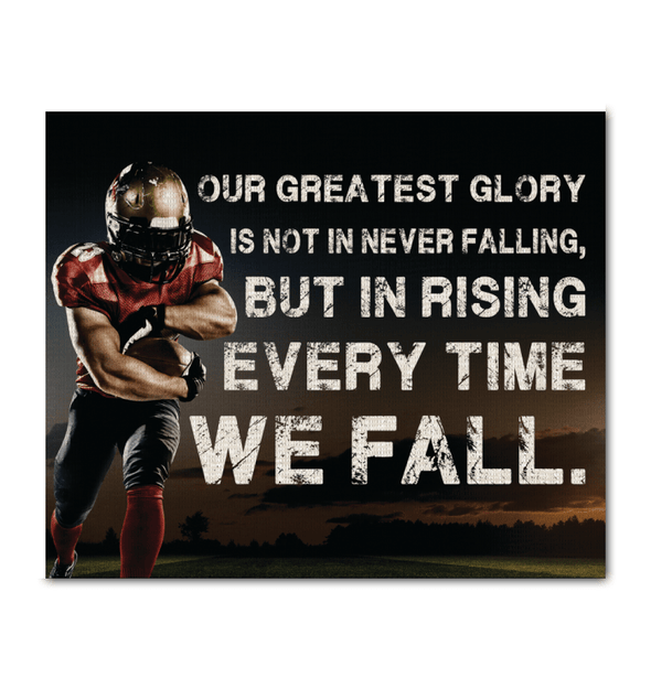 GearLaunch Canvas Prints Wrapped Canvas 20x24 Horizontal / White Football Custom Canvas prints Never falling