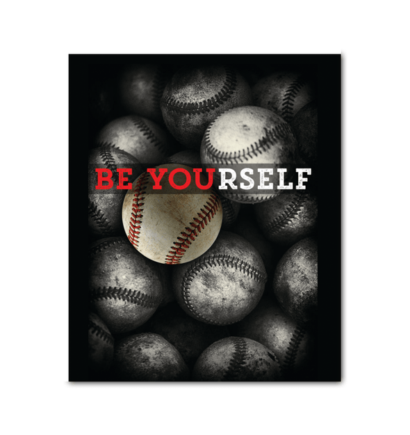 GearLaunch Canvas Prints Wrapped Canvas 20x24 / White Baseball Custom Canvas prints Be Yourself
