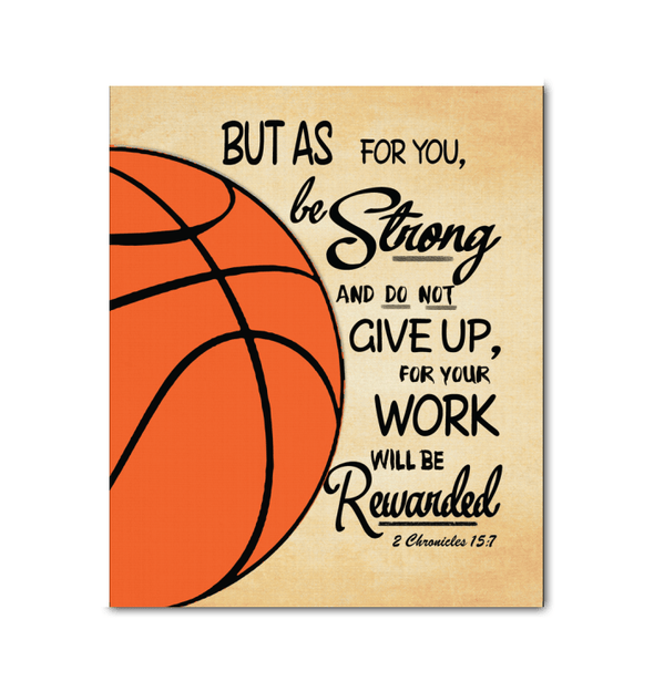 GearLaunch Canvas Prints Wrapped Canvas 20x24 / White Basketball Custom Canvas prints Do not give up