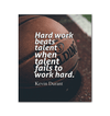 GearLaunch Canvas Prints Wrapped Canvas 20x24 / White Basketball Custom Canvas prints Hard work beats talent when talent fails to work hard