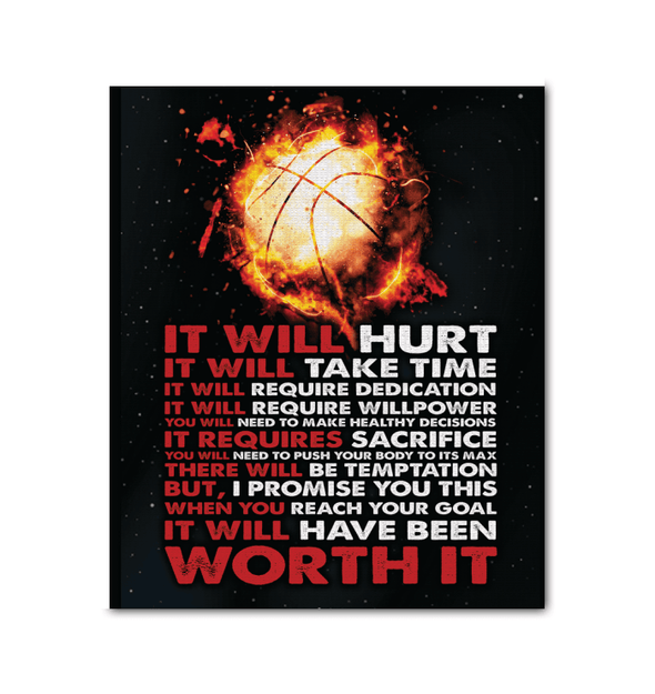 GearLaunch Canvas Prints Wrapped Canvas 20x24 / White Basketball Custom Canvas prints It will have been worth it