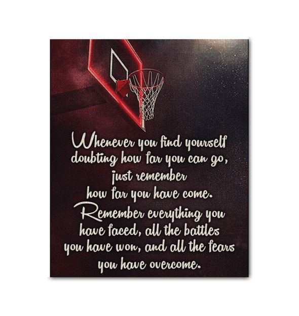 GearLaunch Canvas Prints Wrapped Canvas 20x24 / White Basketball Custom Canvas prints Remember everything you have faced