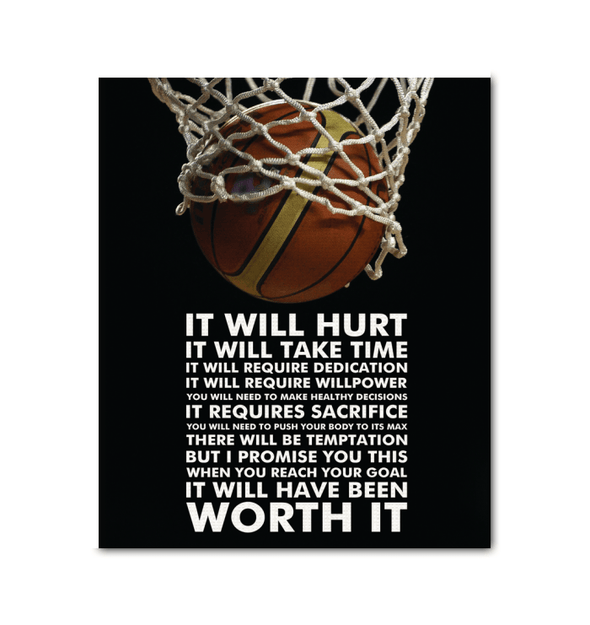 GearLaunch Canvas Prints Wrapped Canvas 20x24 / White Basketball Custom Canvas prints WORTH IT