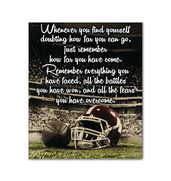 GearLaunch Canvas Prints Wrapped Canvas 20x24 / White Football Custom Canvas prints Remember