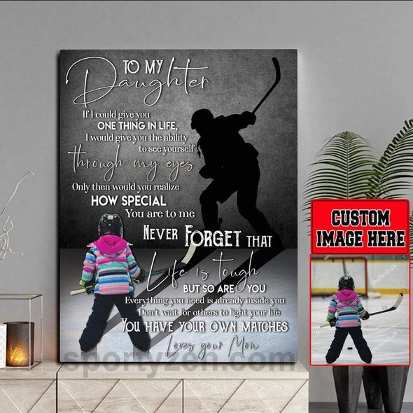 manual canvas You have your own matches Canvas Prints Hockey Player With Photo #0503v