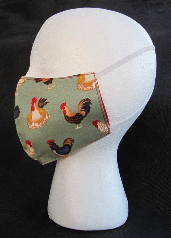 lionnix Chicken Pink Pattern Cute Face Mask #275