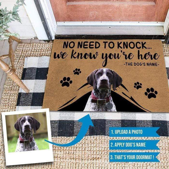 manual Doormat Doormat Custom Dog Name Doormat #0510H