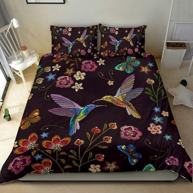 Hummingbird Love And Peace Garden Duvet Cover Bedding Set #1508L