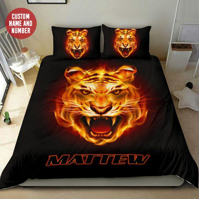 Fire Tiger Custom Name Duvet Cover Bedding Set #0108l