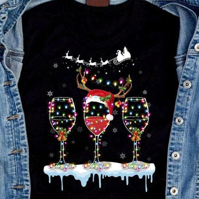 3 Wines Christmas T-shirt