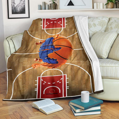 Basketball Court Paintball Fleece Blanket #0509HL