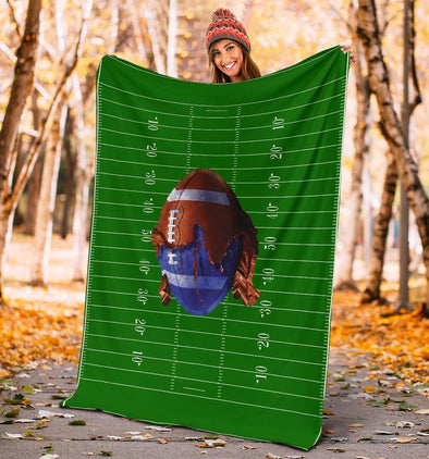 American Football Field Paintball Fleece Blanket #0509HL