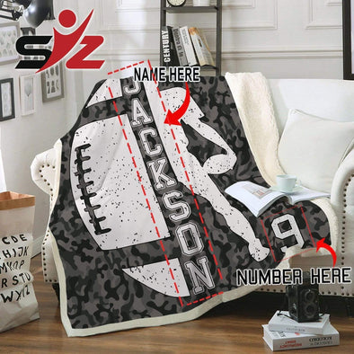 CN Home YOUTH (56x43 in/140x110 cm) Football Player Fleece Blanket #300919V