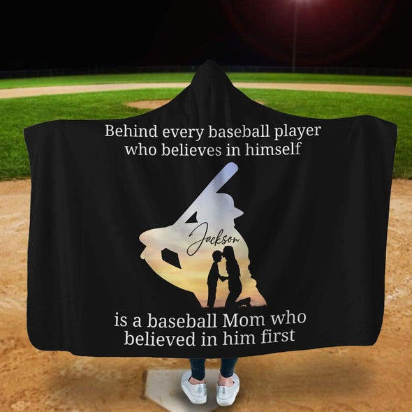 CN Hooded Blanket Behind Every Baseball Player - Customized Hooded Blanket #CN301019L