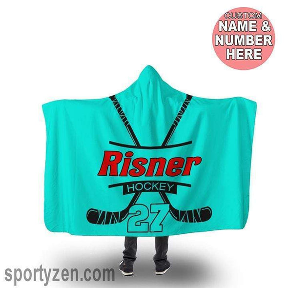 CN hooded blanket Customized Hockey Hooded Blanket #203v