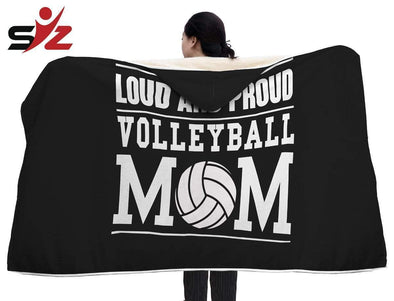 CN Hooded Blanket Loud And Proud Volleyball Mom Hooded Blanket #2410V