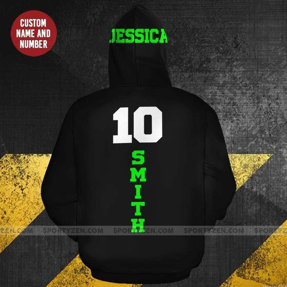 Sportyzen Hoodie 3D Custom Softball Hoodie With Name and Number #130420H