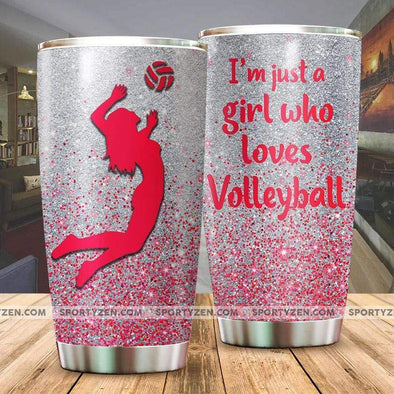 manual I'm just a girl who loves volleyball Tumbler 20 Oz Stainless Steel #174h