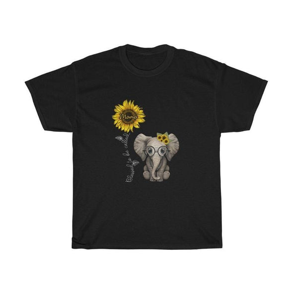 Elephant Sunflower Blessed To Be Called Mama Mother's Day Gifts T-Shirt