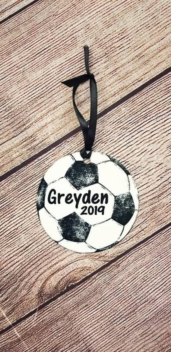 Soccer Personalized Christmas Ornament, Sports Ornament, Soccer Ornaments, Kids Custom Ornaments