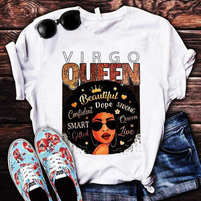 Virgo Black Queen custom name Shirt #DH