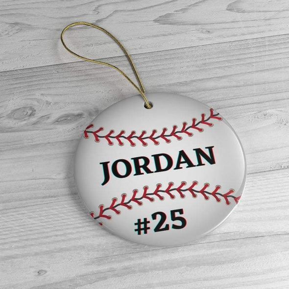 Personalized Baseball Ornament, Boys BaseBall Christmas Ornaments, Custom BaseBall Player Gift