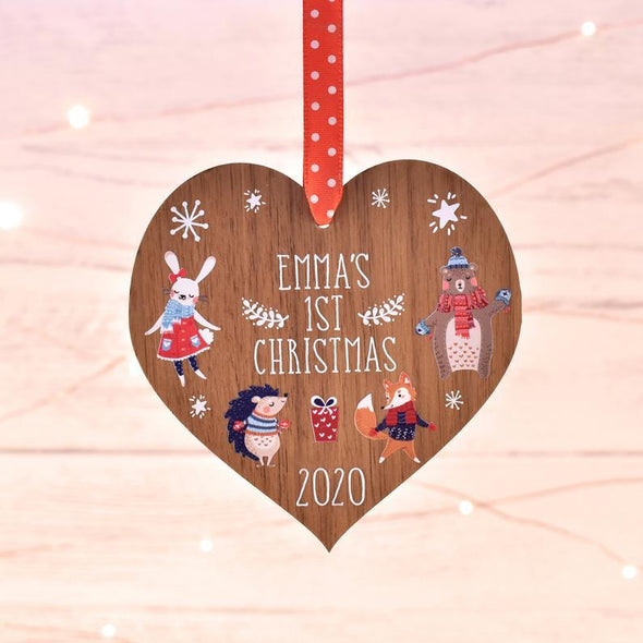 Baby 1st first Christmas Heart Ornament #V